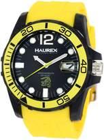 Haurex Italy Men's Caimano Date Dial Rubber Sport Watch N1354UNY