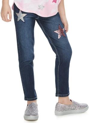Girls 4-12 SONOMA Goods for Life Star Flip-Sequin Skinny Jeans