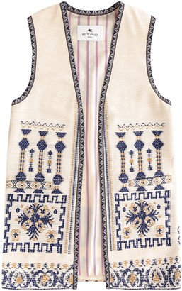 Etro Floral Embroidered Vest