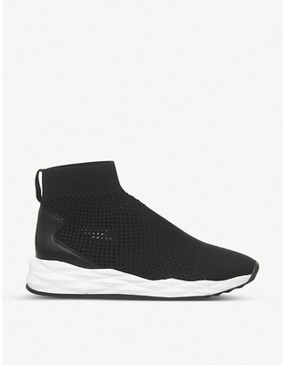 Ash Sound leather and knitted trainers