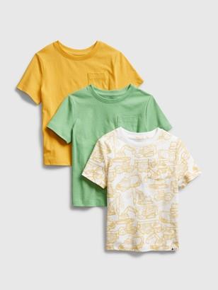 Gap Toddler Mix and Match Pocket T-Shirt (3-Pack)