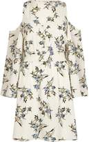 River Island Womens Cream floral cold shoulder dress