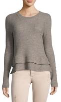 White + Warren Peplum Wool Sweater