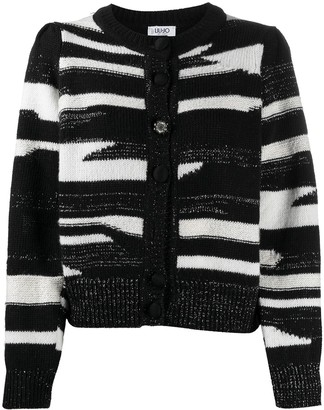 Liu Jo Horizontal-Stripe Knitted Cardigan