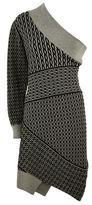 Burberry Cable Knit One Shoulder Dress