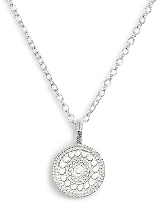 Anna Beck Beaded Reversible Circle Pendant Necklace