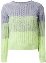 GUILD PRIME tonal cable knit jumper