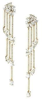 Adriana Orsini Women's 18K Goldplated & Cubic Zirconia Cluster Drop Earrings