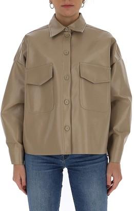 MM6 MAISON MARGIELA Faux-Leather Overshirt