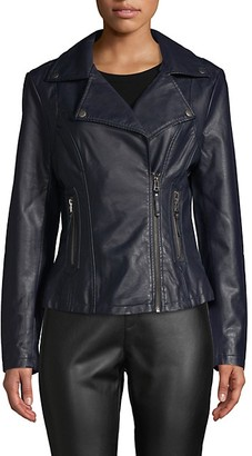 Max Studio Classic Faux Leather Jacket