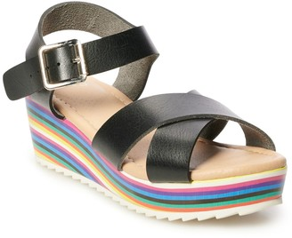 So Delsie Girls' Wedge Sandals