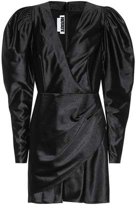 Rotate by Birger Christensen Puff-sleeve satin minidress