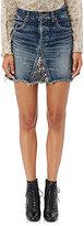 Saint Laurent Women's Studded Denim Miniskirt