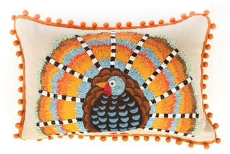 Mackenzie Childs Harvest Turkey Lumbar Pillow