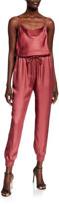 Cinq à Sept Finnley Sleeveless Cowl-Neck Drawstring-Waist Jumpsuit