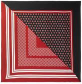 Burberry Polka-dot Silk Scarf - Red