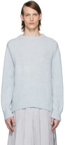 Thom Browne Blue Jersey Stitch Center-Back Stripe Sweater