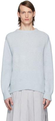Thom Browne Blue Jersey Stitch Center-Back Stripe Sweater