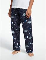 John Lewis & Partners Space Planets Novelty Pyjama Bottoms, Navy