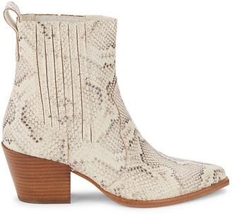 Dolce Vita Serna Snakeskin-Embossed Leather Booties