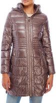 Via Spiga Hooded Zip-Front Packable Down Coat