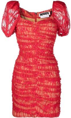 Rotate by Birger Christensen Puff-Sleeve Mini Dress
