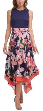 Thumbnail for your product : Vince Camuto Handkerchief-Hem Midi Dress