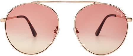 Tom Ford Round Aviator Sunglasses