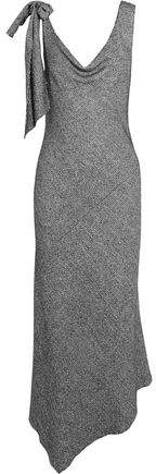 Maison Margiela Knotted Asymmetric Tweed Midi Dress