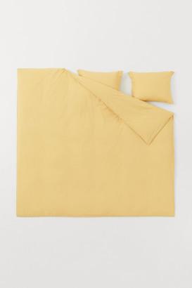 H&M Cotton Percale Duvet Cover Set