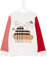 Burberry fringed cloud patch sweatshirt