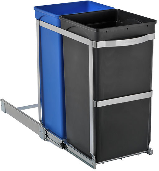Container Store 9.2 gal. 2-Bin Pull-Out Recycler