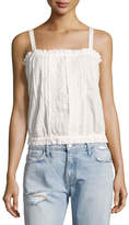Current/Elliott The Eyelet Lace Tank Top, White