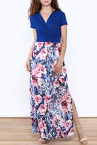 Gilli Blue Floral Maxi Dress
