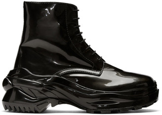 Maison Margiela Gunmetal Cross Boots