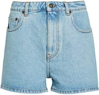 McQ Ren High-Rise Denim Shorts