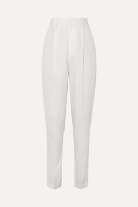 Isabel Marant Boyd Pleated Wool Tapered Pants - Ecru