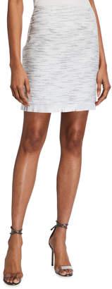 Laundry by Shelli Segal Tweed Mini Fringe Skirt