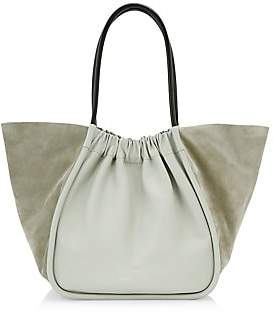 Proenza Schouler Women's Extra-Large Ruched Leather & Suede Tote