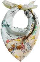 Burberry Seaside print square scarf