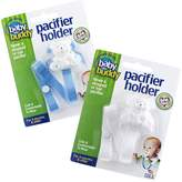 Baby Buddy 2 Piece Unisex Pacifier Holder Clip