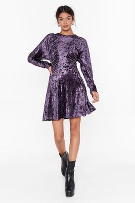 Nasty Gal Womens Totally Crushin' on You Velvet Mini Dress - Purple - 4
