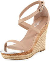 Aden Faux-Leather Wedge Sandal