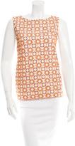 Prada Embroidered Sleeveless Top