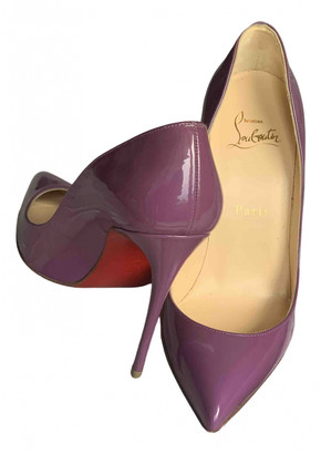 Christian Louboutin Pigalle Purple Patent leather Heels