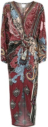 Camilla Front Twist Maxi Dress