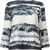 Phase Eight Alannah Print Blouse, Black/Ivory