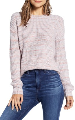 Lucky Brand Marled Crew Neck Sweater