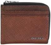 Diesel textured zipped wallet