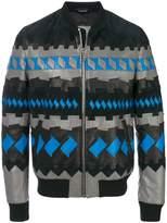 Lanvin geometric bomber jacket